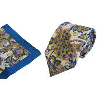 Silk Tie And Hank Set