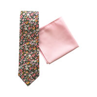 Floral Cotton Tie & Hank Set