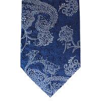 Paisley White Silk Tie 7.5Cm