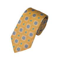 Silk Square Medallion Tie