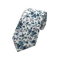 Delicate Floral Printed Tie