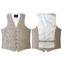 Linen-Look Modern Fit Waistcoat : 34 Inches
