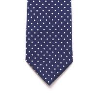 Printed Polka Dot Silk Tie