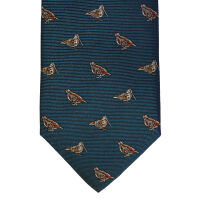 Snipe and Grouse Silk Tie