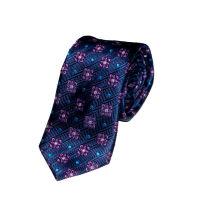 Silk Large Geo Flower Tie