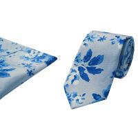 Silk Skinny Tie And Hank Set