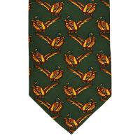 Double Pheasant Silk Tie