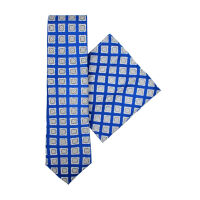 Silk Tie And Hank Set - Foulard