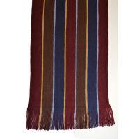 Double Face Stripe Knit Scarf