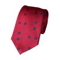 Paw Print Woven Tie