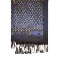 Silk Print Scarf Wool Backed