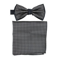 Two Tone DogTooth Poly Bow