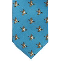 Duck Print Silk Tie