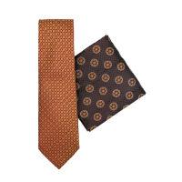 Silk Tie And Hank Set - Medallion