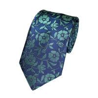 Silkcontrast Floral Tie