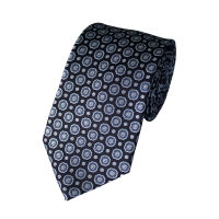 Small Medallion Silk Tie