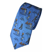 Fishing Silk Tie