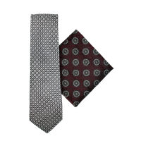 Silk Tie And Hank Set - Medallion