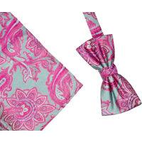 Bright Paisley Silk Bowset