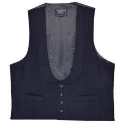 Blue Wedding Tails Scoop Waistcoat