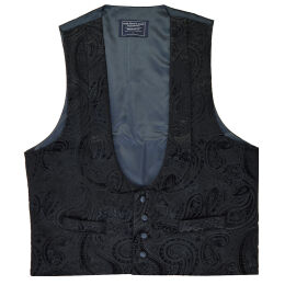 Black Velvet Scoop Evening Waistcoat