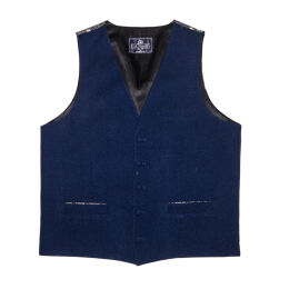 Waistcoat Made with Liberty Fabric back and trim