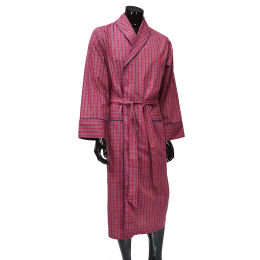Cotton Check L/Weight Gown