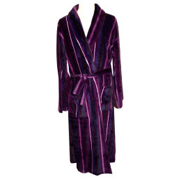 Stripe Coral Fleece Gown