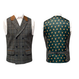 Country Printed Back Waistcoat